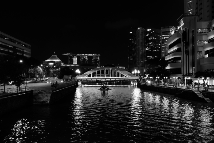 Riverside in B&W by K.