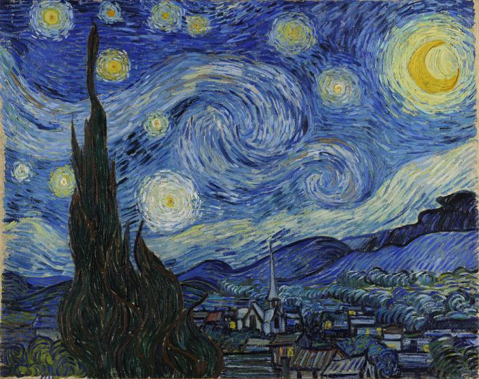 Đêm đầy sao - Starry night của Vincent van Gogh. Ảnh: Internet