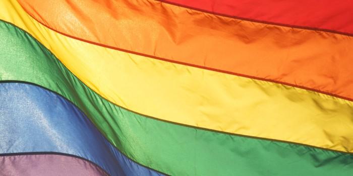 Full Frame Rainbow Flag Shines Bright. Source: HuffingtonPost